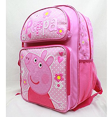 New Design Cartoon Peppa Pig Kids School Bag