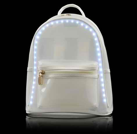 2017 New Style Fashion bag led backpack bag